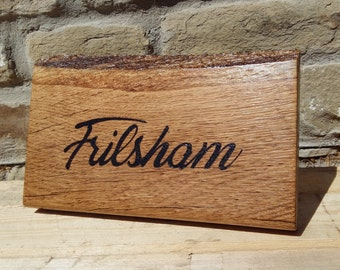 Custom Pyrography House Signs