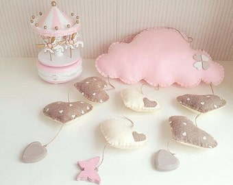 Mobile baby cloud, home decors