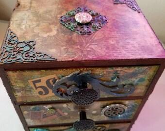 Vintage Style Storage Box, #S216-1