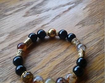 Egyptian looking bracelet, semiprecious stones bracelet