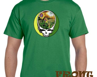 Grateful Dead Inspired Harvest Sunflower Steal Your Face, Dead Head Tees