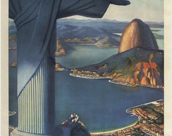 Flying Down To Rio Vintage Travel Poster P. G. Lawler Us 1930 24x36 Very Rare
