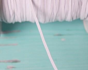skinny white FOE Elastic, elastic by the yard, fold over elastic, foldover elastic headband, white elastic hair ties, wholesale elastic