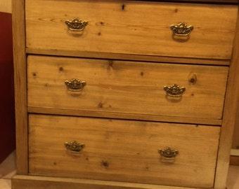 Antique Scottish Bleached Pine Chest