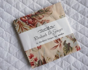 Rhubarb & Ginger - Charm Pack - 38 pieces - Blackbird Designs - Moda Fabric