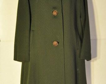 Women's Vintage Green Coat