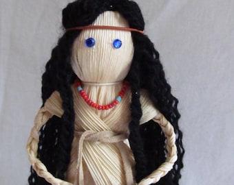 Corn Husk Doll 'Native Darling' Collectible