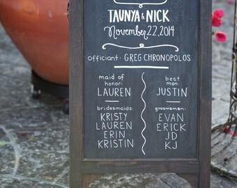 Customized Wedding Welcome Sign // Chalkboard Wedding