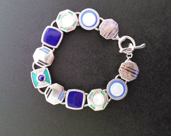 ART DECO Cuff Link BRACELET with a little Edwardian, and a lot of style.