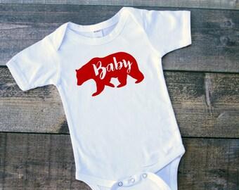 Baby girl boy bear bodysuit tshirt shirt