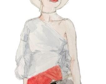 Summer Ruffles (Original Watercolor)