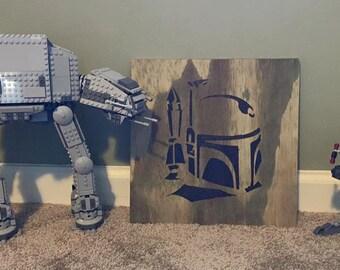 Star Wars - Boba Fett Wood Burn