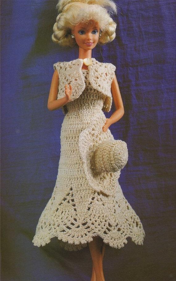 Dolls Clothes PDF Crochet Pattern : 11 12 inch dolly