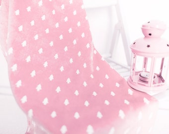 Plush Blanket (Baby Blanket, Pram Blanket, Toddler Blanket, Organic blanket, Car seat blanket, Baby Girl blanket, Pink nursery, Pink Blanket
