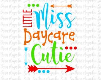 Little Miss Daycare Cutie - Back to School SVG - Princess - First Day of School - Preschool - Silhouette - Cricut - Cut File - SVG Design