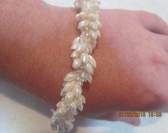 0066-White Spiral Bracelet