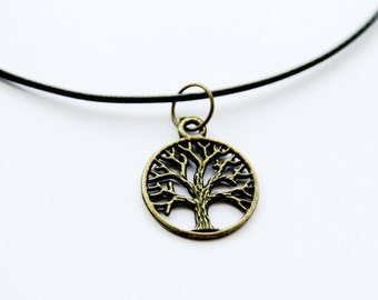 Tree of life, Antique Bronze, choker, necklace