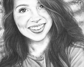 Custom Pencil Portrait drawn from your photo. Graduation/Mother's Day/Birthday/Christmas/Keepsake
