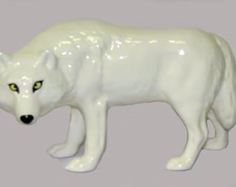 Porcelain wolf.