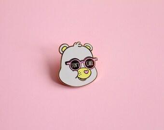 Don't Care Bear - Hard Enamel Gold Lapel Pin