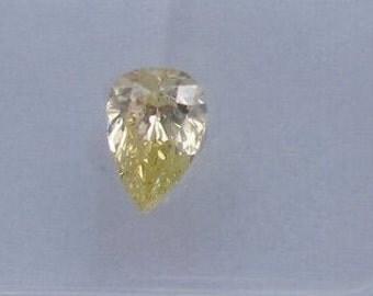 0.73 ct Pear Fancy Yellow GIA certified diamond