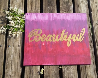 Beautiful Text Acrylic Painting