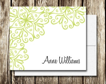Custom Personalized Stationery | Set of 12 Note Cards | Scroll Stationery