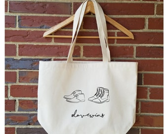 Eco-Friendly Tote Bag. Love wins 1. Recycled Cotton, Reusable, Heavyweight, Groceries, Market, Handmade