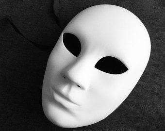 Plain White DIY Purge Mask Halloween Costume dress up women's full face mask
