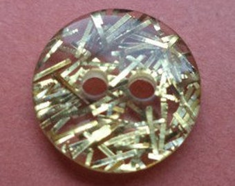 13 small buttons gold 11mm (570) button