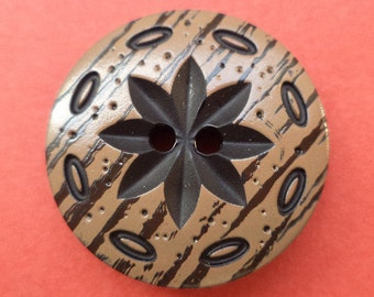 4 Brown buttons 23mm (2387) button