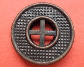 8 metal KNOBS bronze 20 mm metal buttons (1736)