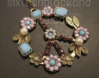Peace Flower Pendant Necklace