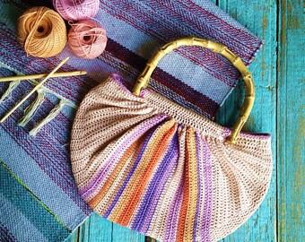 summer bag,summer crochet bag, boho bag, boho crochet bag, hippie crochet bag,etnic bag