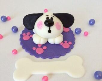 Puppy Fondant Cake Topper
