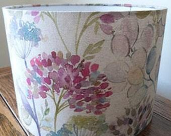 Voyage Lampshade -  Lythmore Hedgerow Cream Linen Fabric Handmade Lamp Shade