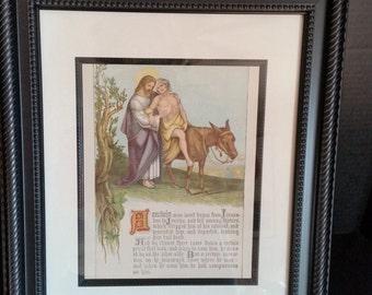 """Bible Plate """"Good Samaritan"""""""