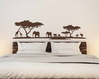 Animal Wall Decal Etsy - Wall decals animalsafrican savannah wall sticker decoration great trees with
