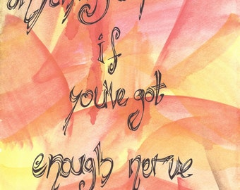Hand-painted Harry Potter Gryffindor quote