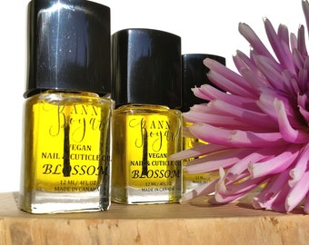 BLOSSOM Nail and Cuticle Oil, Vegan Cruelty Free Nail Care, Unique Gift Idea, Sweet Orange Essential Oil, Organic Natural Products, AnnBoyar