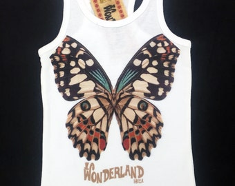 BROWN BUTTERFLY TANK TOP