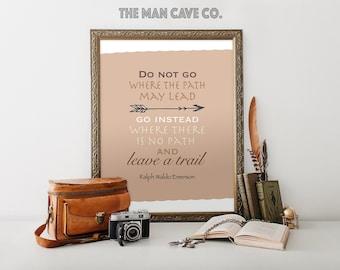 Ralph Waldo Emerson Quote Printable Art Leave A Trail Boy Nursery Quote Art  Man Cave Decor