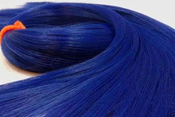 Tardis Blue Nylon Doll Hair Hank Rerooting Barbie, Monster High, Ever After, Crissy, Blythe Rehair My Little Pony Intl Shipping