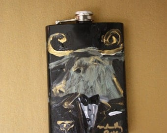 "SOLD (Customized unique variation available) Franco Mondini-Ruiz one of a kind ""Bull"" flask"