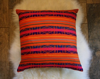 Boho + Denim Pillow Cover
