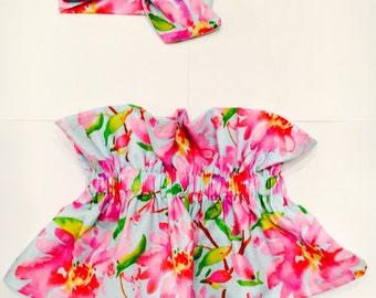 Teal Floral Set