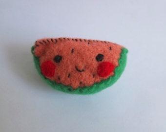Watermelon Plush Pin