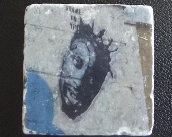 Stone Drink Coaster ODB Street Art
