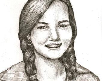Custom People Portraits in Pencil