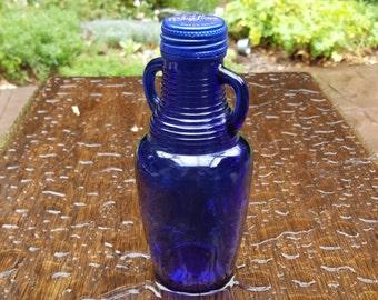 Vintage Collectible Cobalt Empty Blue Bottle Originally Held Blue Luna Cafe Latte
